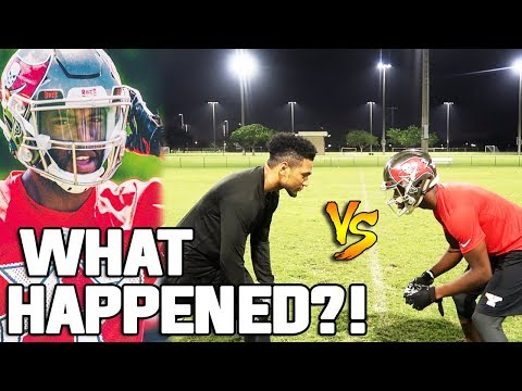 1V1 VS NFL PLAYER CALLED ME OUT!