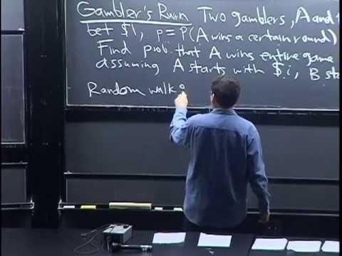 Lecture 7: Gambler's Ruin and Random Variables | Statistics 110