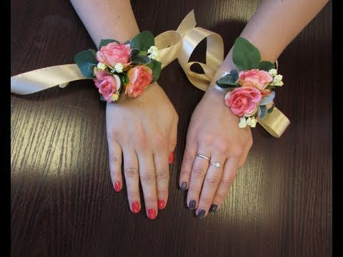 Бутоньерки своими руками для подружек на руку