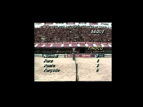 FIVB Semifinal 1989 Edinho/Tinoco X Renan/Bernard  1.set Ipanema, Rio de Janeiro