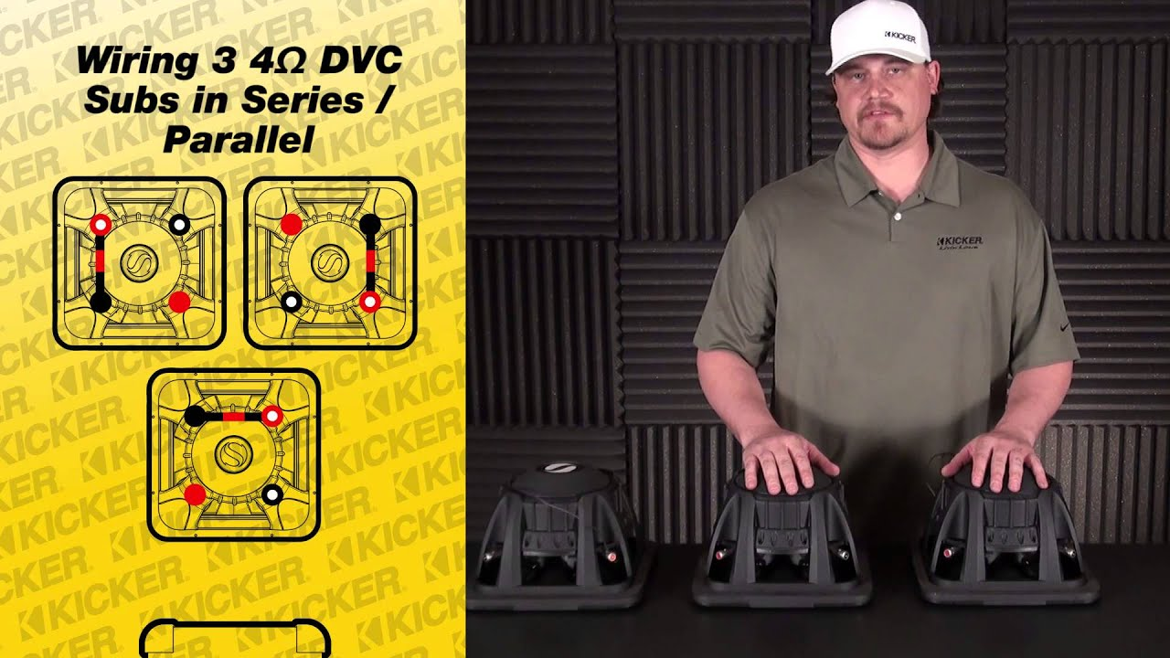 Subwoofer Wiring Three Dvc Subs In Series Parallel Youtube For 2 2ohm Diagram