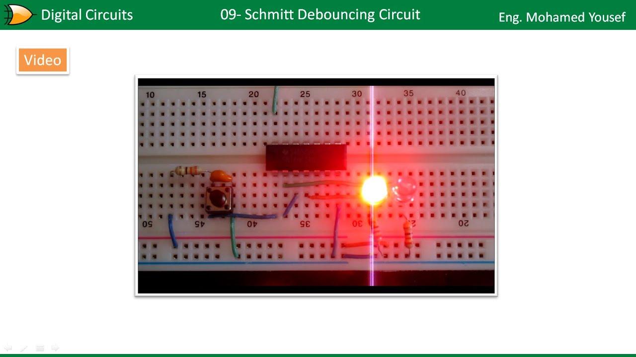 09 Schmitt Debouncing Circuit Youtube Debounce Switch