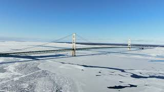 Winterized Mackinac Bridge - Mackinaw City, MI