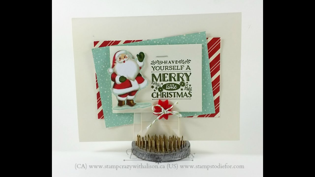 Stampin\' Up! Cozy Christmas Card - YouTube