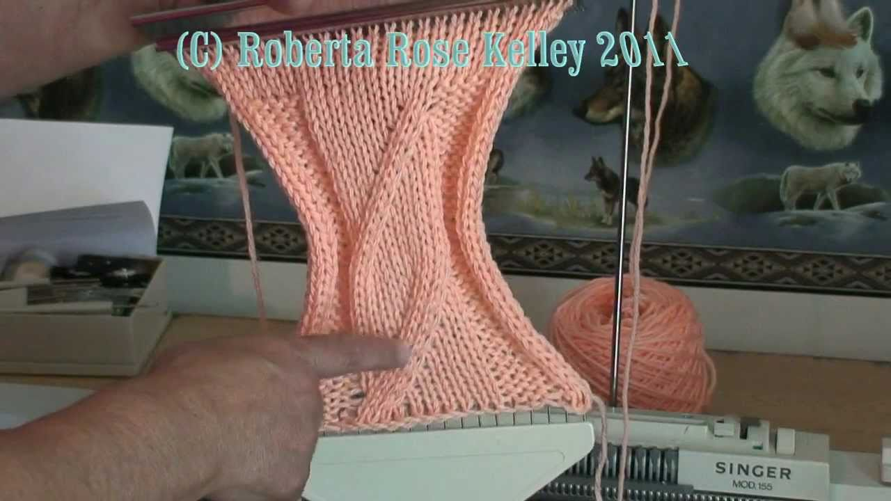 Machine Knit Wide Cable - YouTube