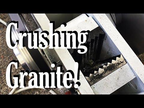 The best way of crushing granite for an epoxy granite build!