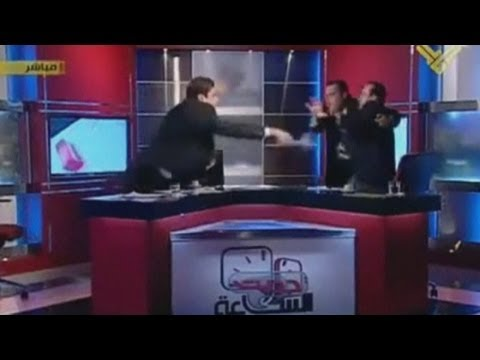 Fight Breaks Out On Live TV In Lebanon During Syria Debate