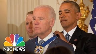 President Barack Obama Awards VP Joe Biden Th...