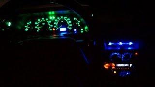 Стайлинг подсветки салона Ваз 2110 замена лампочек на диоды(Видео обзор - Стайлинг подсветки салона авто Ваз 2110 замена всех лампочек накаливания на диодные на панели..., 2014-01-30T08:20:34.000Z)
