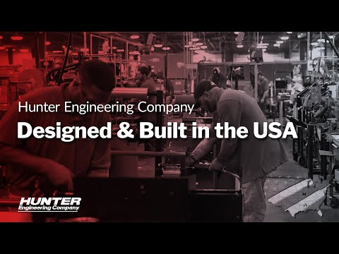 Automotive Equipment Designed And Built In The USA By Hunter Engineering