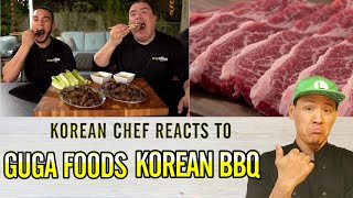 Korean chef react t๐ Guga Foods | Best KOREAN BBQ of my LIFE! Beef Short Ribs Perfection!