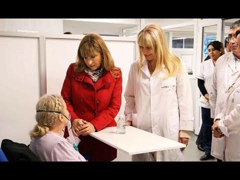 Las ministras Chahla y Crescitelli visitaron a los pacientes aún internados