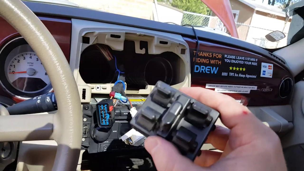 Window won't roll up fix Broken Window part 2 Pt Cruiser 2006 2010 window switch  YouTube