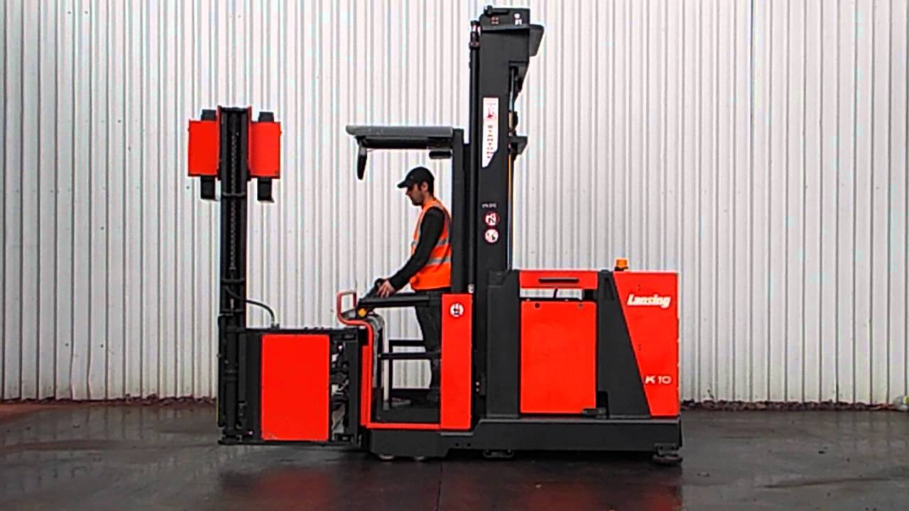 linde k10 tri-lateral head 1000kgs electric forklift truck