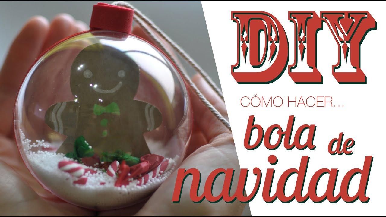 Diy c mo decorar una bola de navidad transparente youtube - Bolas transparentes para decorar ...
