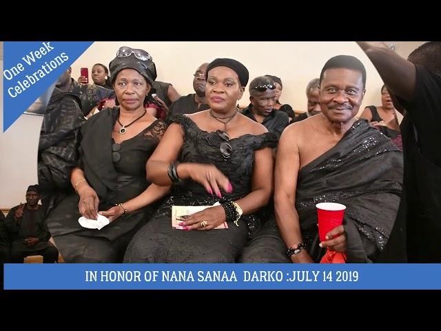 Traditional One Week Celebrations In Honor Of Nana Sanaa Atta Darko