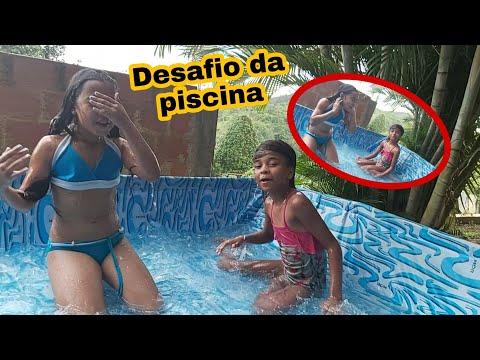 DESAFIO DA PISCINA COM MINHA AMIGA LUIZA/ESTAMOS DE FÉRIAS! QUEM VAI GANHAR?