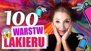 100 WARSTW LAKIERU DO WŁOSÓW - SZOK!!
