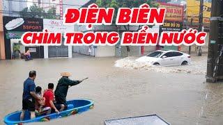 Mưa lớn kéo dài Điện Biên chìm trong biển nước   Lang Thang Điện Biên
