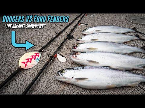 Kokanee Fishing SHOWDOWN! | Trolling Dodgers VS Ford Fenders/Gang Trolls