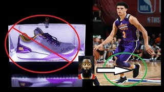 Lonzo Ball Wears adidas James Harden's & Not Big Baller Brand ZO2 Shoes + Scores Triple Double
