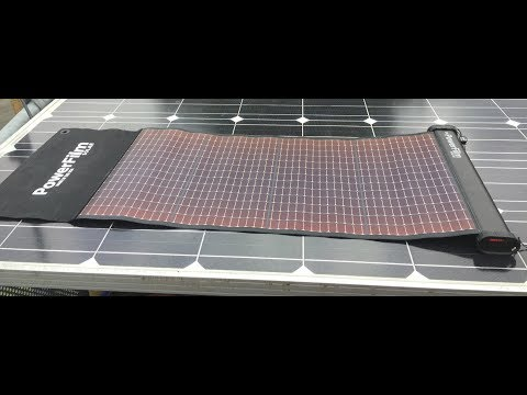 Powerfilm Lightsaver Max 15,6 Ah Solar Powerbank  in use