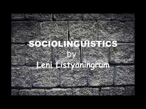 Sociolinguistics Code-switching and Code-mixing