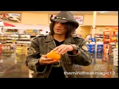 Criss Angel Mindfreak Magic tricks with food
