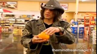 Criss Angel Mindfreak Magic tricks with food