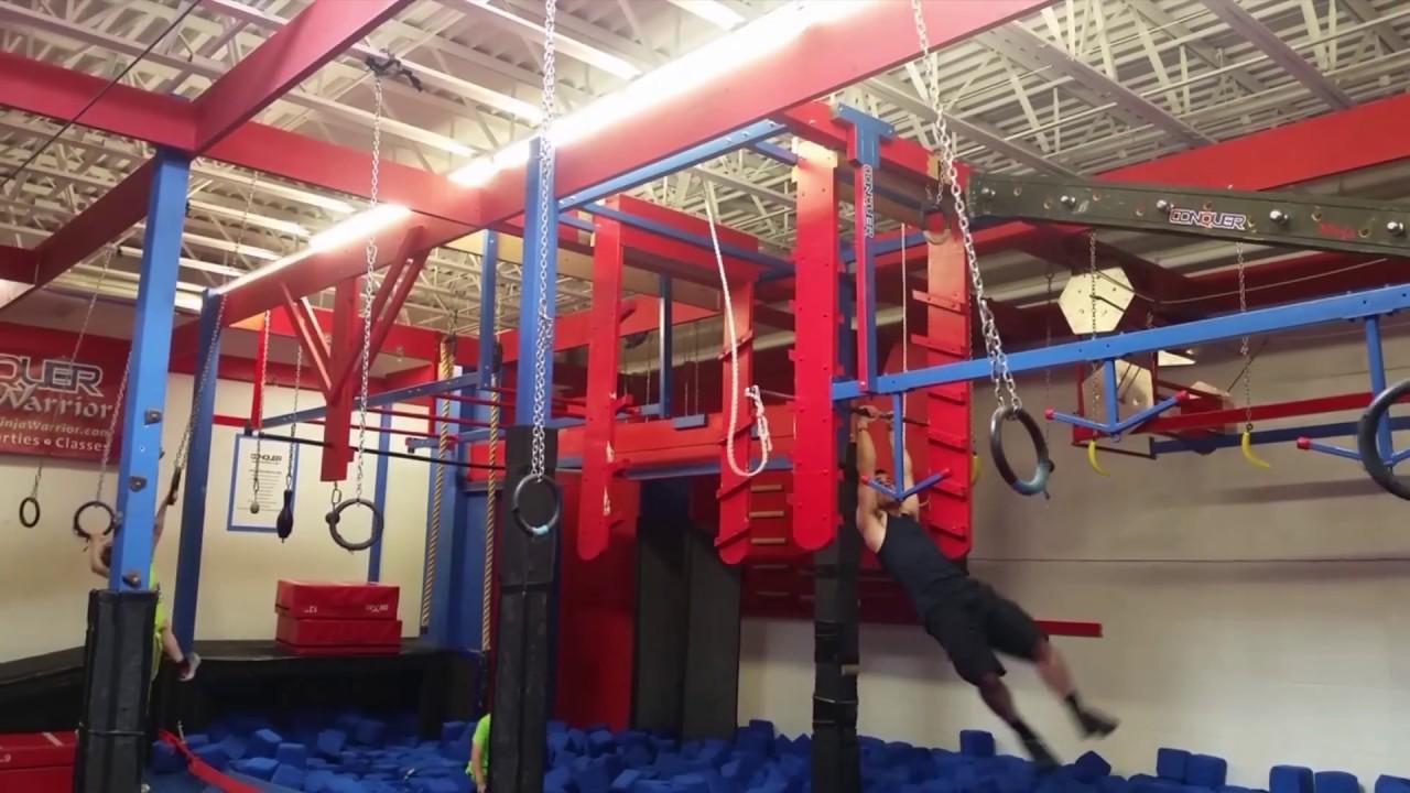 Matthew Sudduth Training At Eden Prairie Conquer Ninja Warrior Gym 5 15 2017
