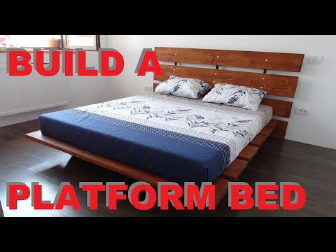 Build a simple platform bed from scratch
