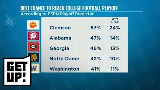 ESPN Analytics releases College Football Playoff predictions | Get Up! | ESPN
