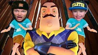 ПРИВЕТ СОСЕД первый Letsplay Hello Neighbor с МИСТЕР МАКС / испуганный папа/ Gamer Mister Max Play thumbnail