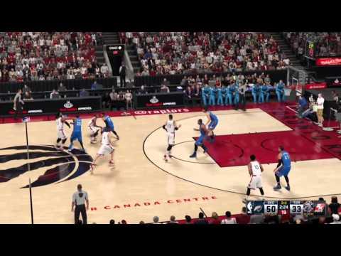 Oklahoma City Thunder Vs Toronto Raptors NBA 2K16