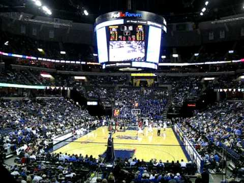 Memphis Tigers basketball 2009 versus SMU at FedEx Forum ...