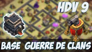 TOP Base HDV 9 Guerre de clans avec propulseur d'air | TH 9 War Base | Clash Of Clans Français