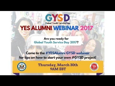 YES Alumni Webinar - Global Youth Service Day Mashup!