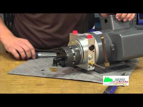Replacing the gear pump assembly inside of a hydraulic boat lift pump