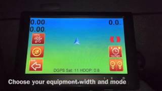 Geotrack Explorer - GPS parallel guidance - first start