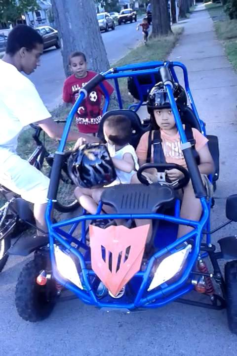11 Year Old Boy First Time Ride Go Kart 110cc