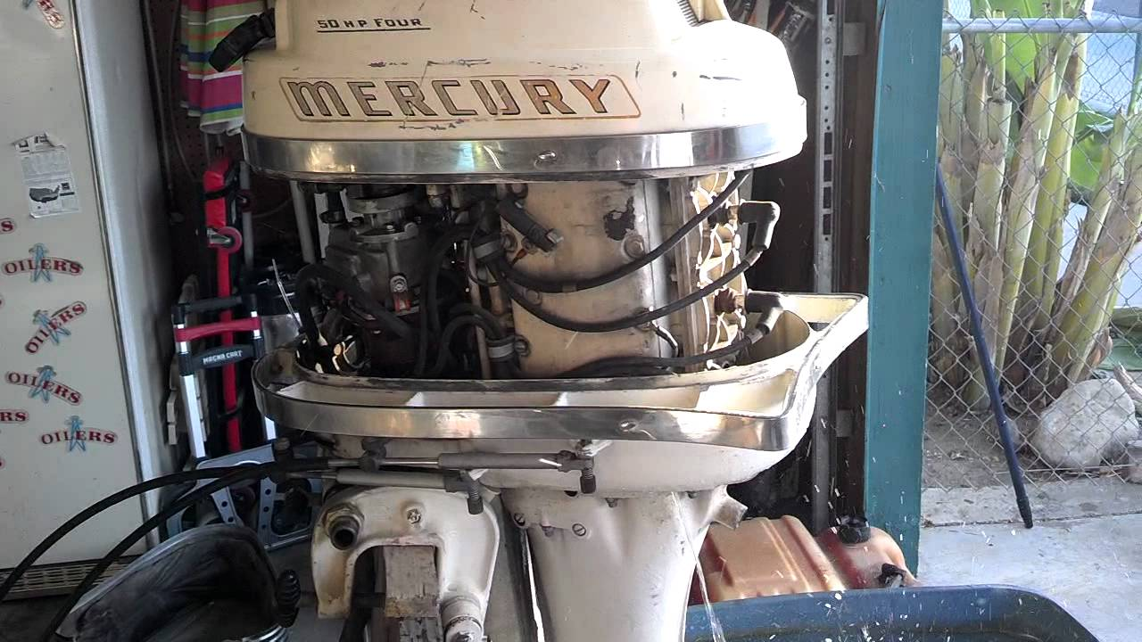 Mercury Outboard Motor Wiring Harness Vintage Mercury 50 Horse Outboard For Sale Youtube