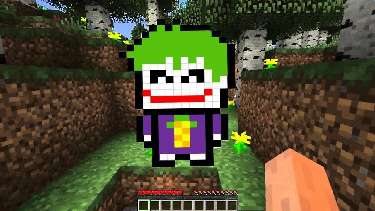 fbbd2c18d Drawing Joker like a Minecraft character in pixel art style. - YouTube