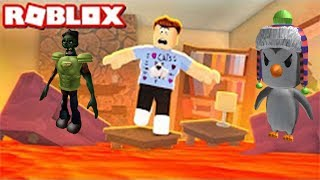 Children's letsplej in ROBLOKS FLOOR is LAVA ROBLOX on RUSSIAN children's letsplej in ROBLOKS