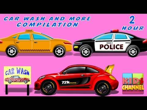 Car Wash | Car Service | kids videos | Compilation | Cars Ra