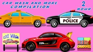 Gambar cover Car Wash | Car Service | kids videos | Compilation | Kids Cars Race | Videos For Kids | Transport