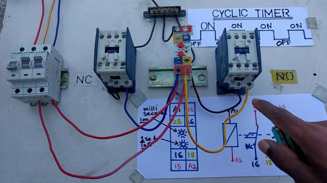how to work cyclic timer test in live electrical videos in tamil cyclic relay wiring diagram [ 1280 x 720 Pixel ]