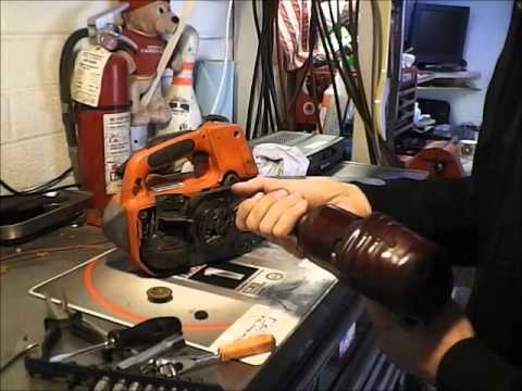Chainsaw chain oiler repair