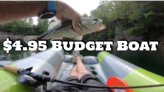 Budget Boat - Sink Hole Lake!