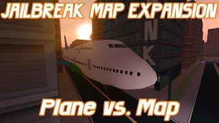 ROBLOX Jailbreak - Map Expansion Update,comparing Jailbreak map vs. Planes! (Antonov,Boeing,More!)