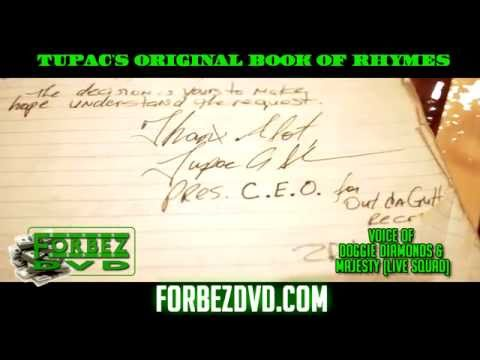 Tupac's Original Book Of Rhymes (Video Of One Of Them)